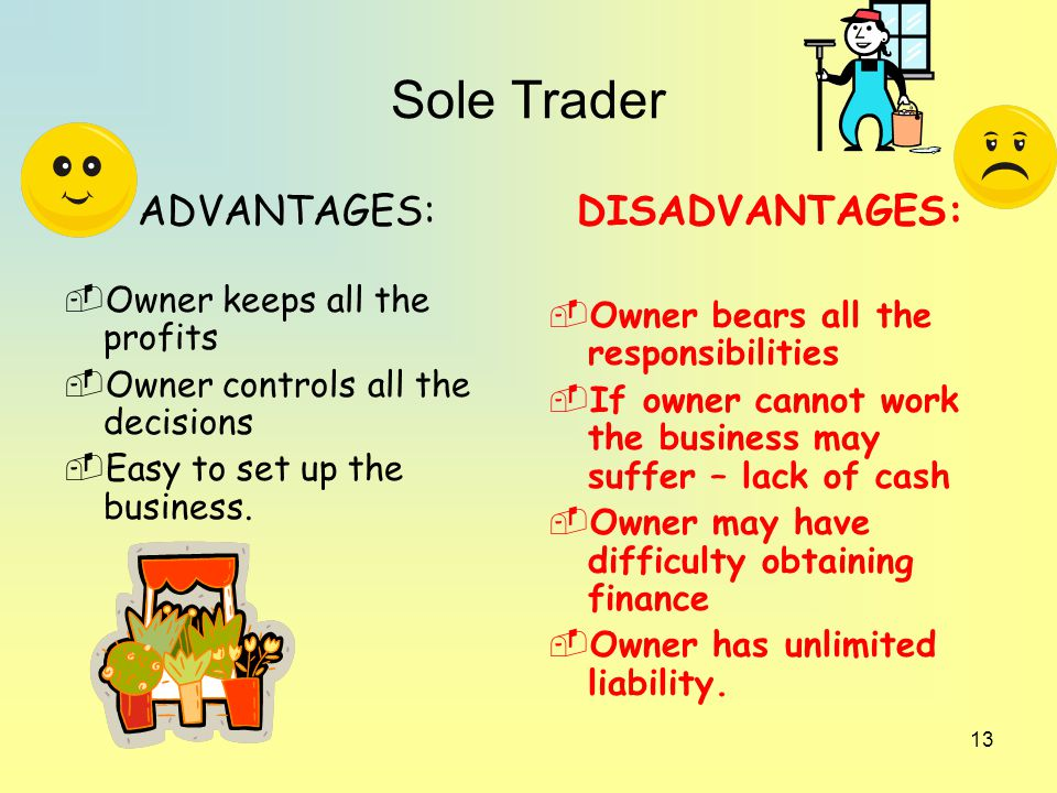 sole trader advantage Starting a business: sole trader vs company 3 min read | alexw facebook twitter linkedin starting your own business is an.