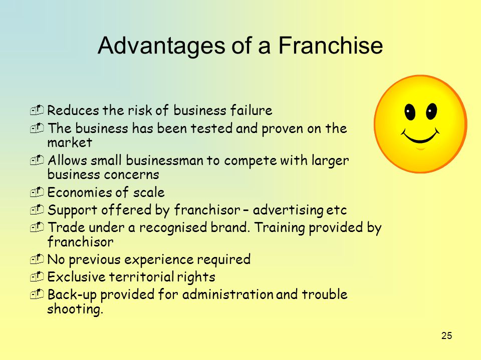what advantages does franchising provide to franchisers as well as franchisees The advantages & disadvantages of franchising should be considered before  franchising your business and becoming a franchisor the internicola law firm,.