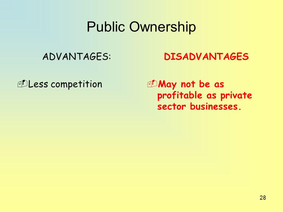 advantages and disadvantages of competition Competitive advantages the most recent developments in theories of the firm view a firm as a knowledge-creating entity and argue that knowledge and the capability to.
