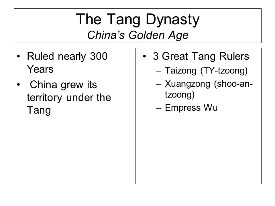 The Tang Dynasty China's Golden Age