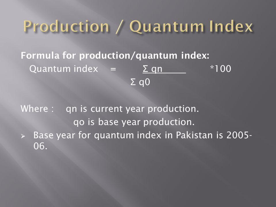 Production / Quantum Index