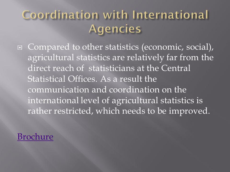 Coordination with International Agencies