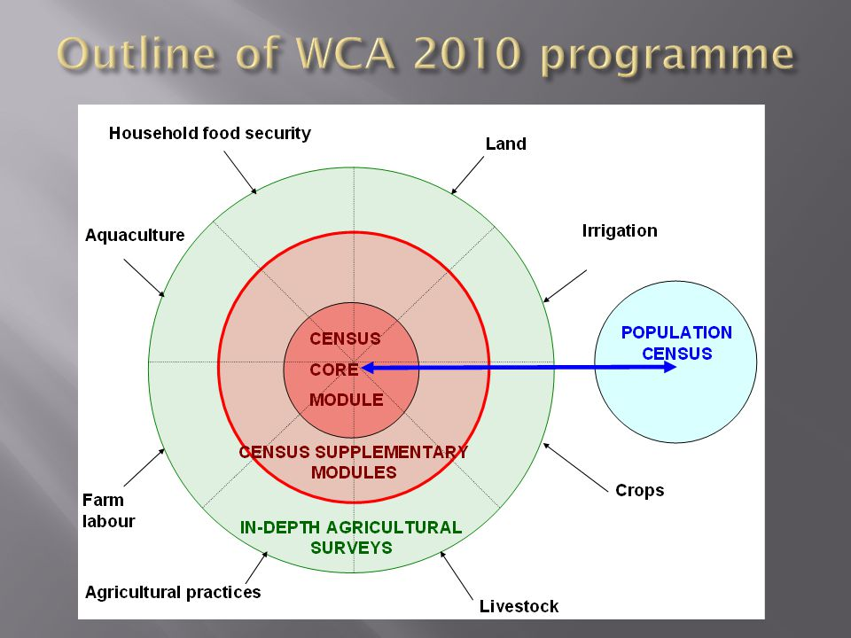 Outline of WCA 2010 programme