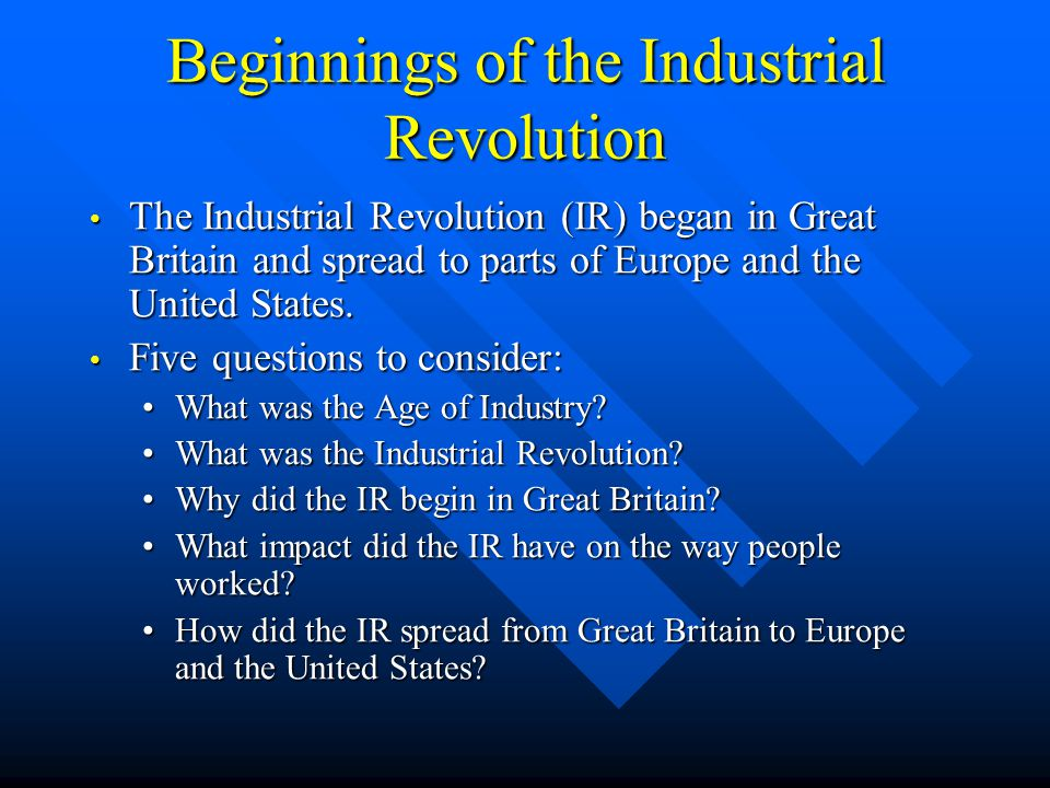 impact of industrial revolution to the hospitality industry The hospitality industry's impact on global warming  main contribution is the burning of fossil fuels which began around the time of the industrial revolution .