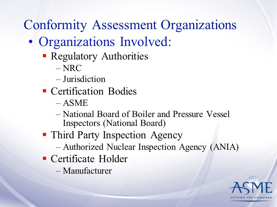 Conformity Assessment Organizations