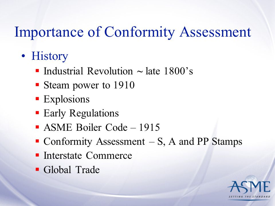 Importance of Conformity Assessment