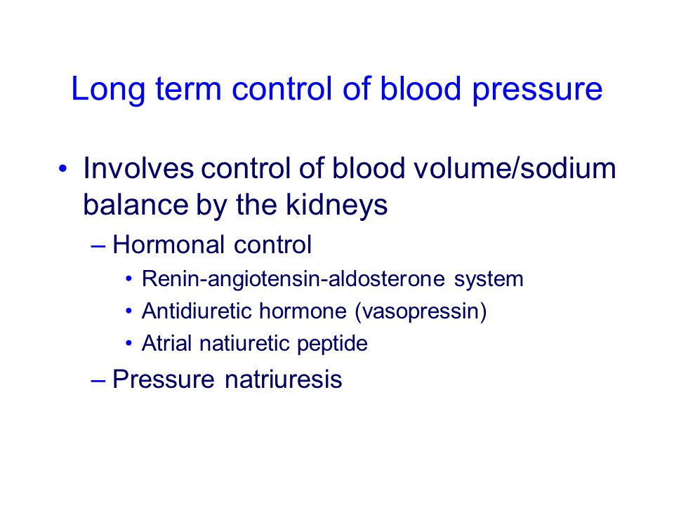 Control of blood pressure - ppt video online download