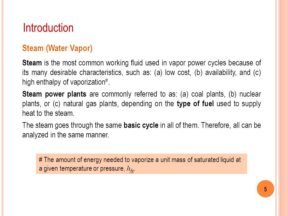 Introduction Steam (Water Vapor)