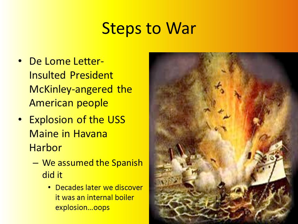 explosion of the uss maine Free uss maine papers, essays uss indianapolis sinking - the uss indianapolis was a heavy cruiser the explosion of the uss maine.