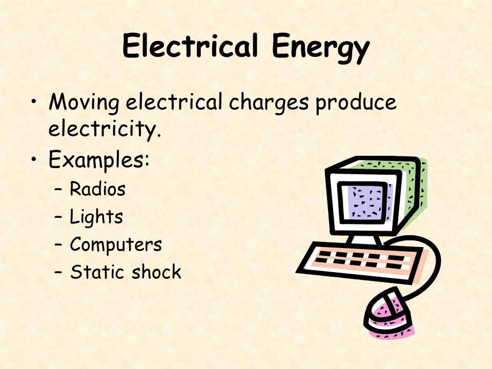 Examples Of Electrical Energy To Motion