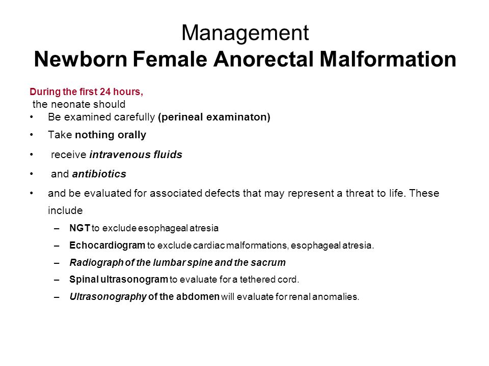 Management Newborn Female Anorectal Malformation