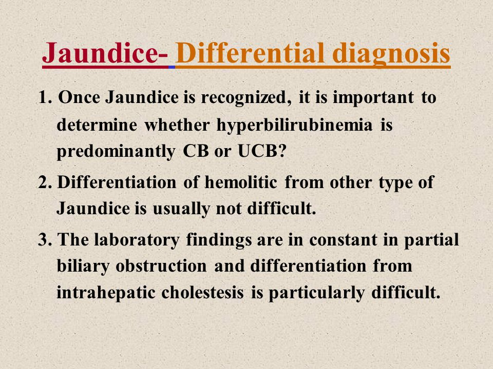 Jaundice Definition Accumulation of yellow pigment in the skin and other tissues (Bilirubin ...
