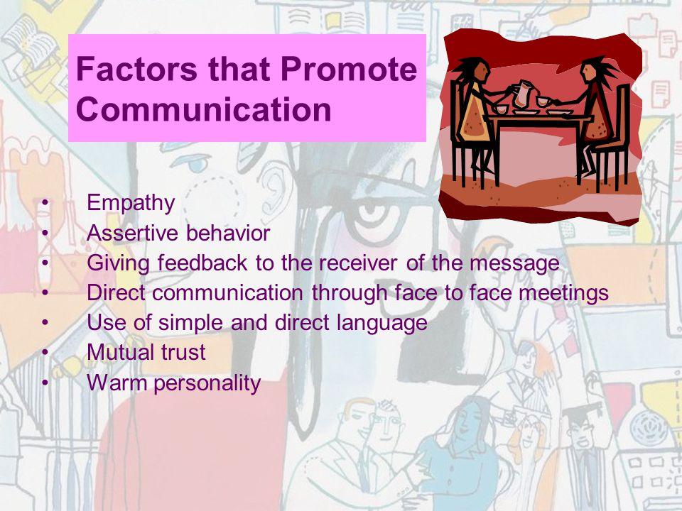 Factors that Promote Communication