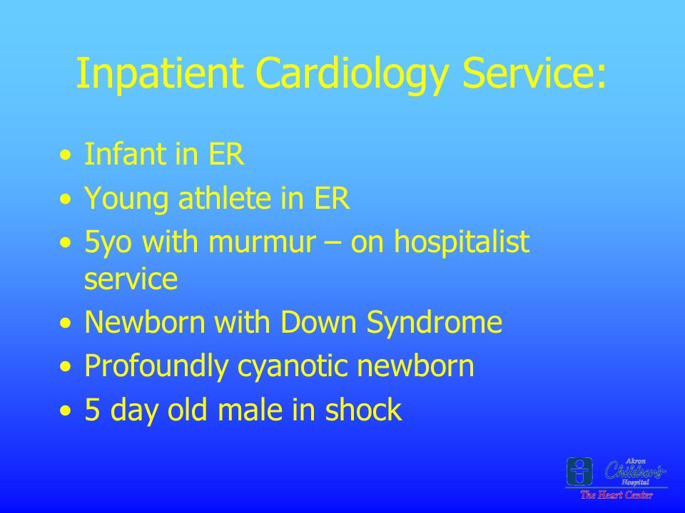 Inpatient Cardiology Service: