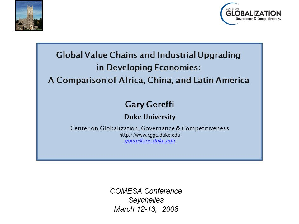 Center on Globalization, Governance & Competitiveness