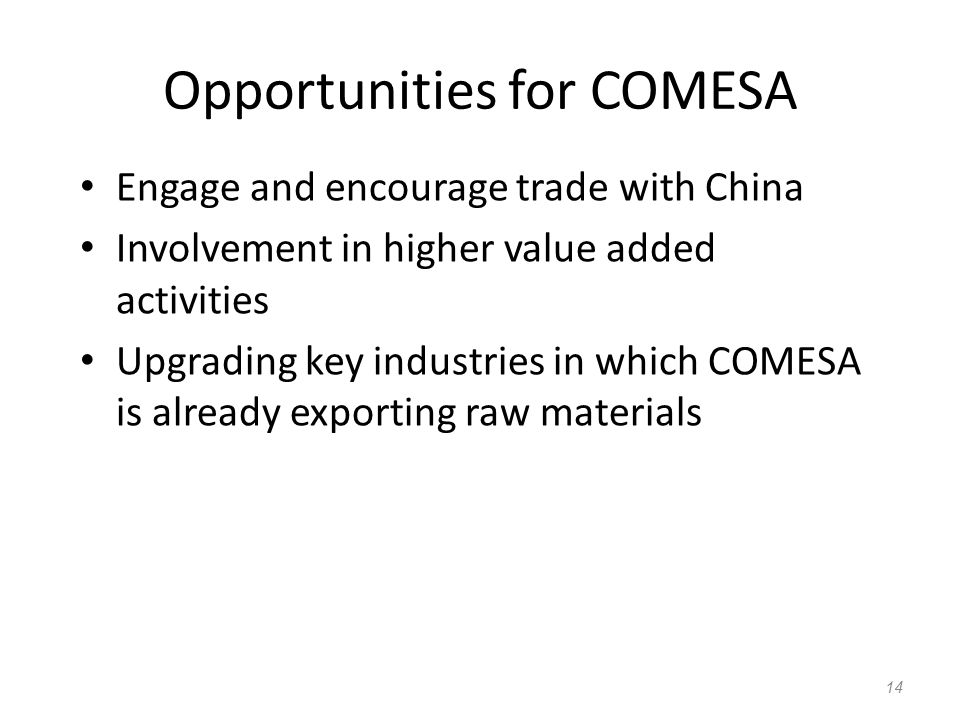 Opportunities for COMESA