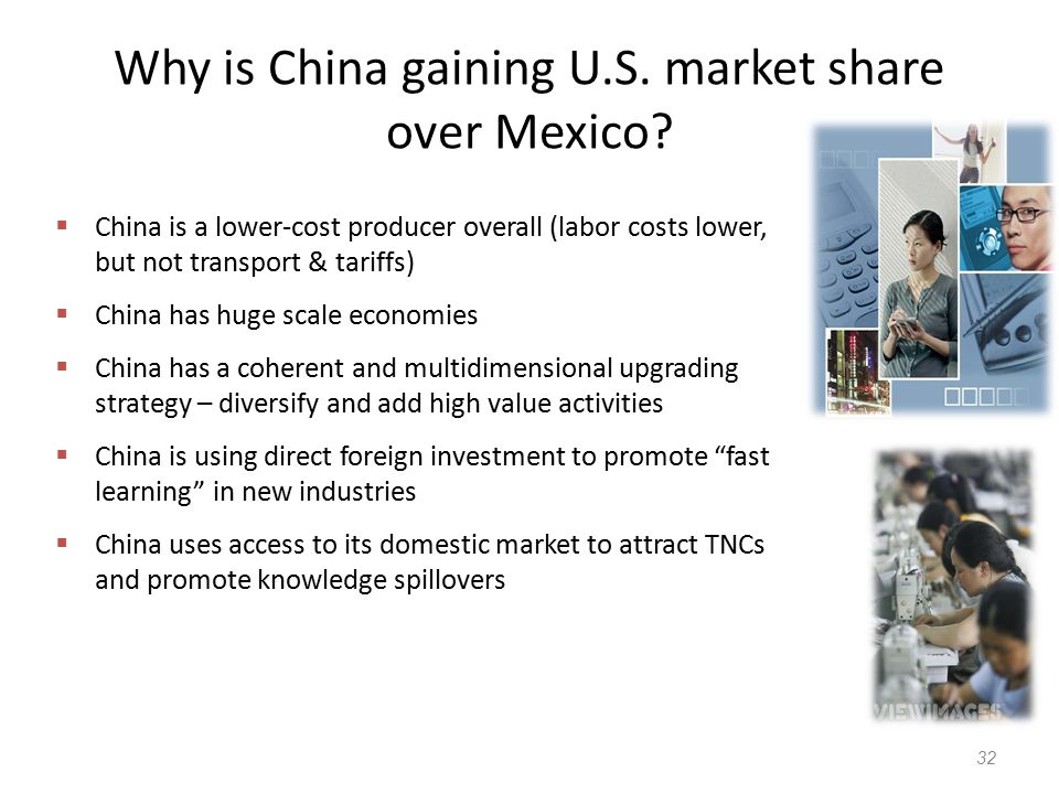 Why is China gaining U.S. market share over Mexico