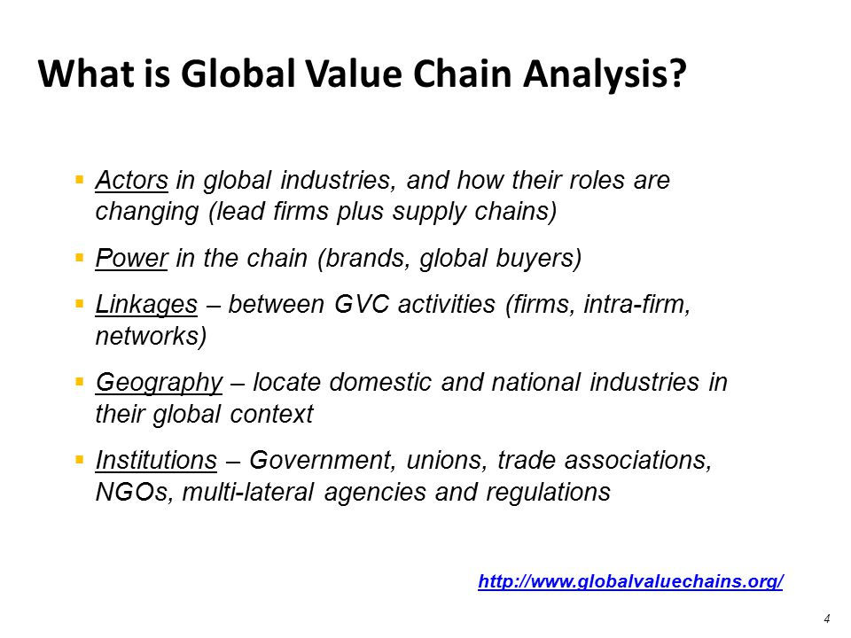 What is Global Value Chain Analysis
