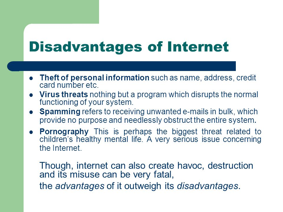 An Essay on Advantages and Disadvantages of Internet for Students, Kids and Children