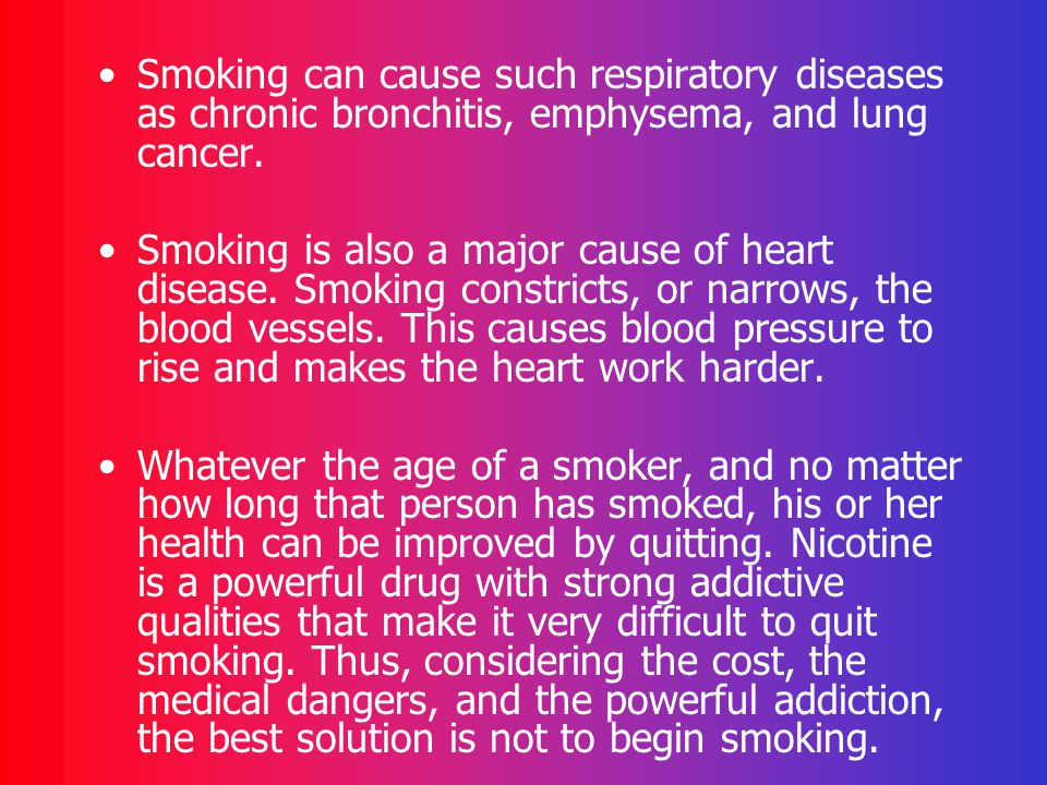 Diseases Smoking Can Cause