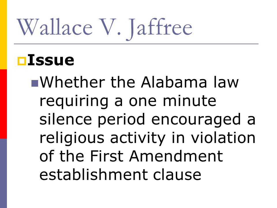 wallace v Case opinion for us supreme court wallace v jaffree read the court's  full decision on findlaw.