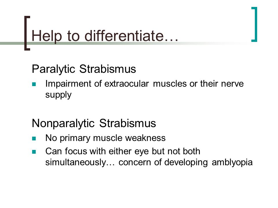 Help to differentiate…