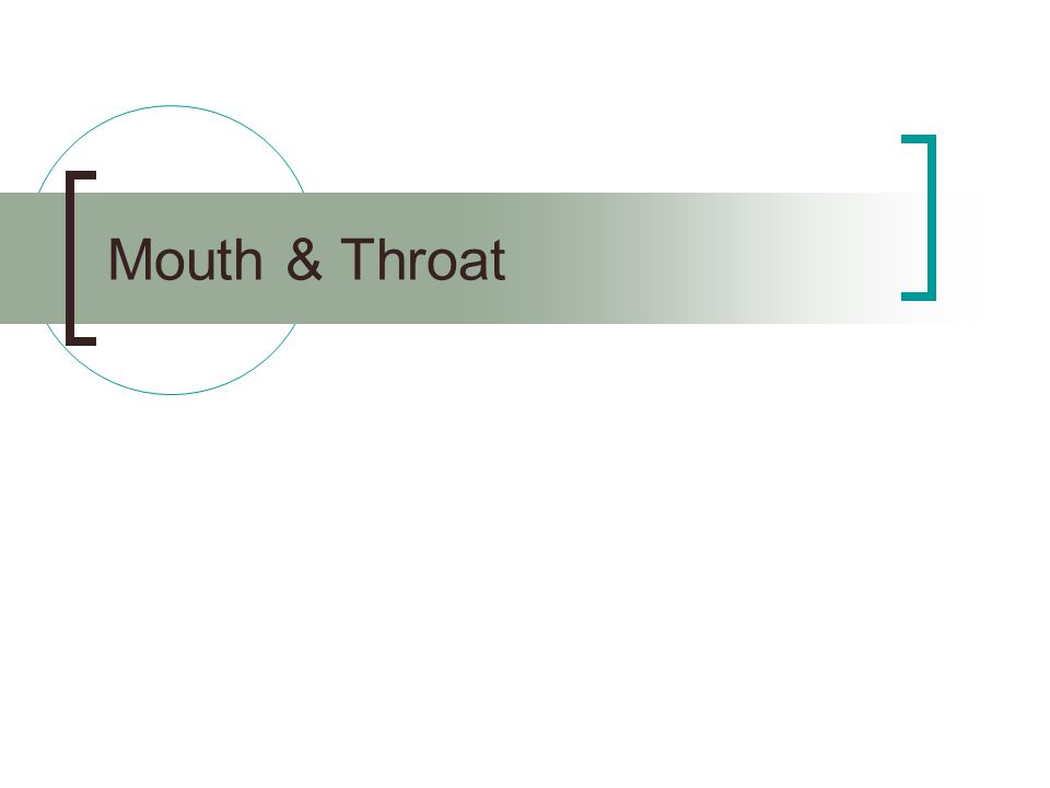 Mouth & Throat