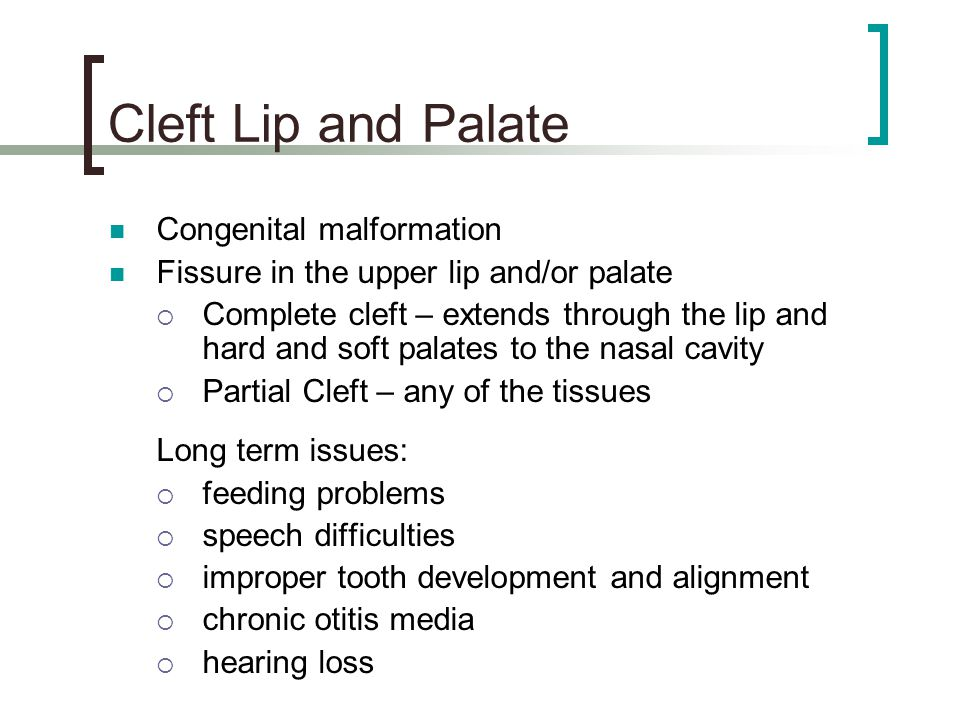 Cleft Lip and Palate Congenital malformation