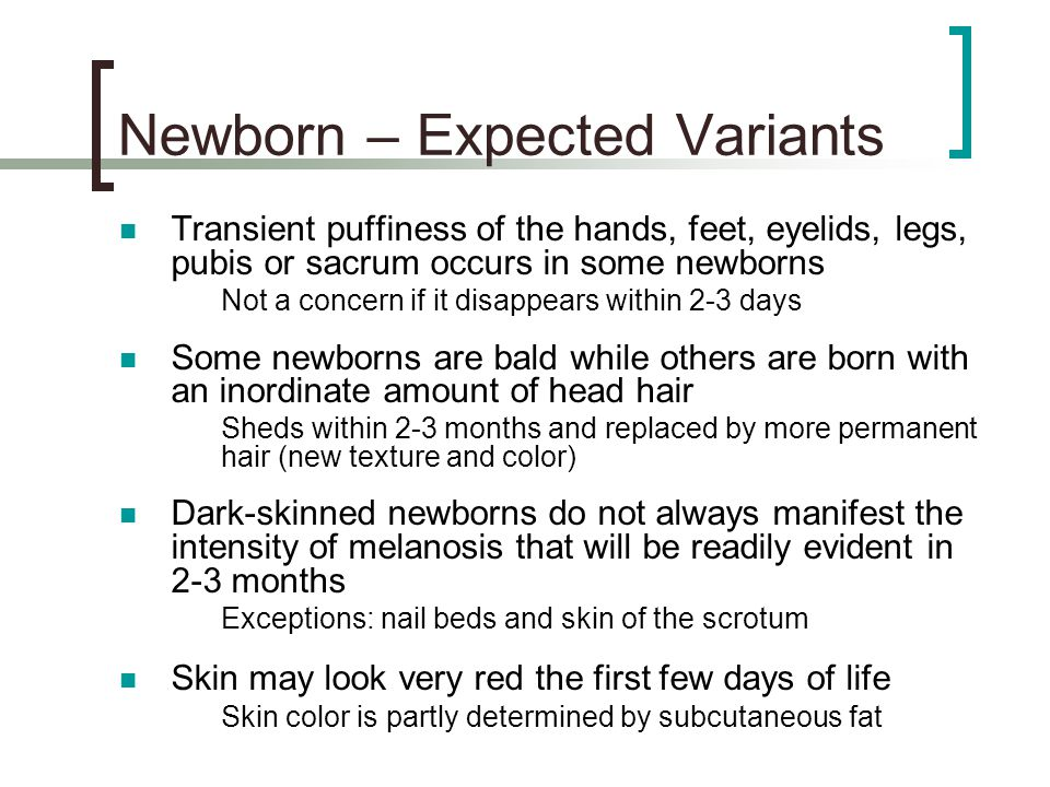 Newborn – Expected Variants