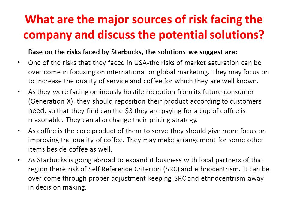 case 1 1 starbucks going global fast Case 1-1 starbucks---going global fast 1 identify the controllable and uncontrollable elements that starbucks has encountered in entering global markets ans i think the controllable factors that starbucks has encountered entering the global market are similar to those in their domestic market.