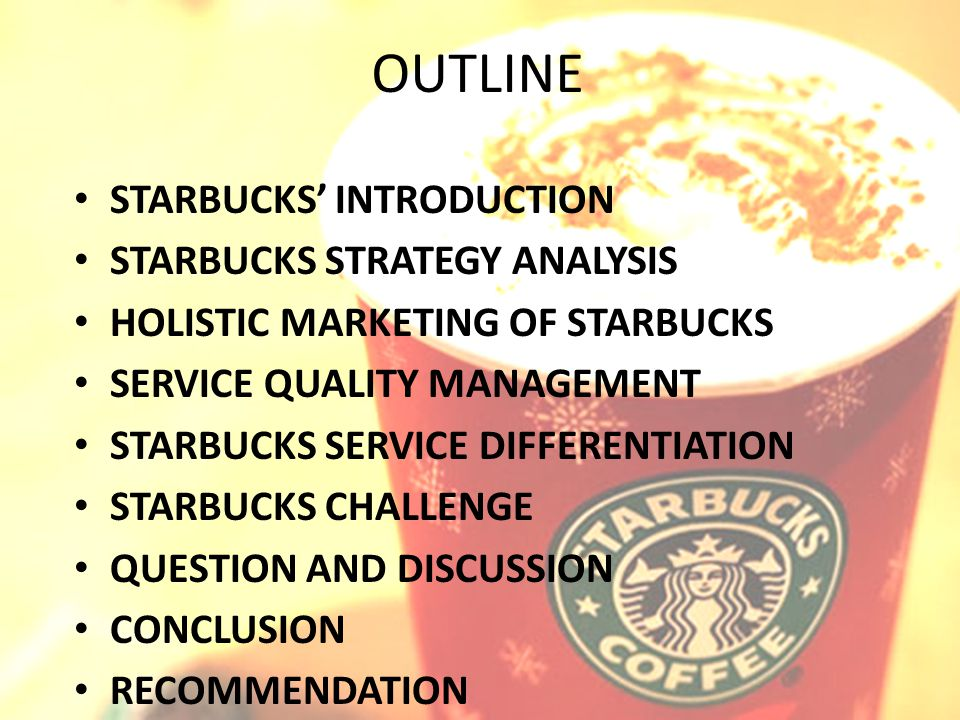 applied strategic management starbucks For many firms, concentration strategies are very sensible  mcdonald's,  starbucks, and subway are three firms that have relied heavily on concentration .