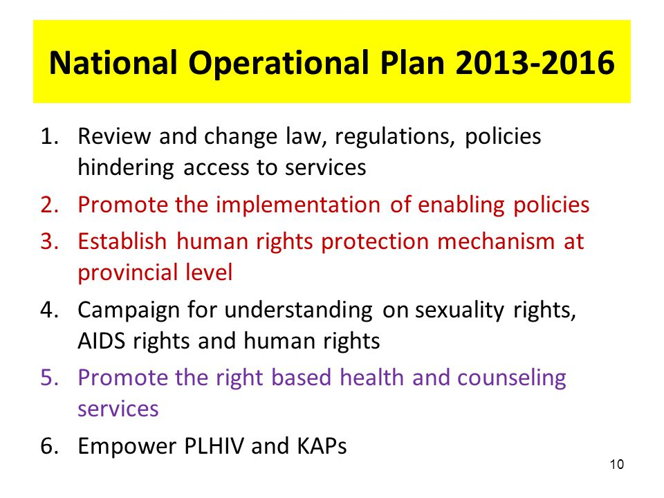 National Operational Plan