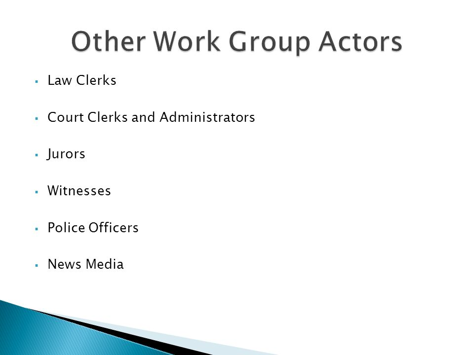 Other Work Group Actors