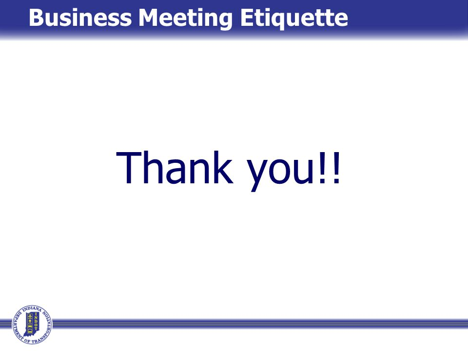 Business Meeting Etiquette
