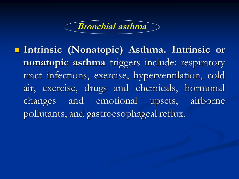 Extrinsic Asthma VS Intrinsic Asthma