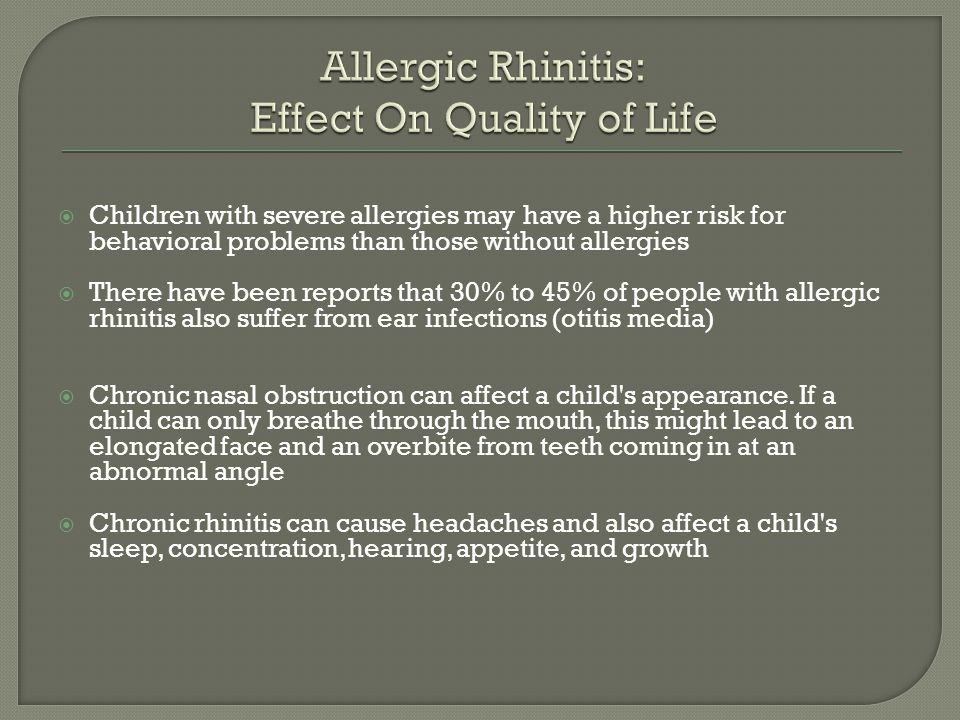 a study of rhinitis causes and effects Chronic rhinitis is a common disorder that affects persons of all ages the usual symptoms – runny nose, congestion, sneezing and itchy watery eyes – may appear occasionally or almost all the time, and can range from mild to distressing.