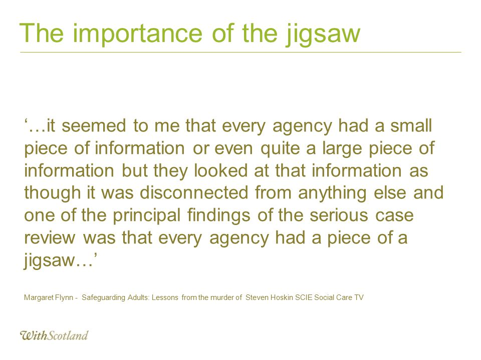 The importance of the jigsaw