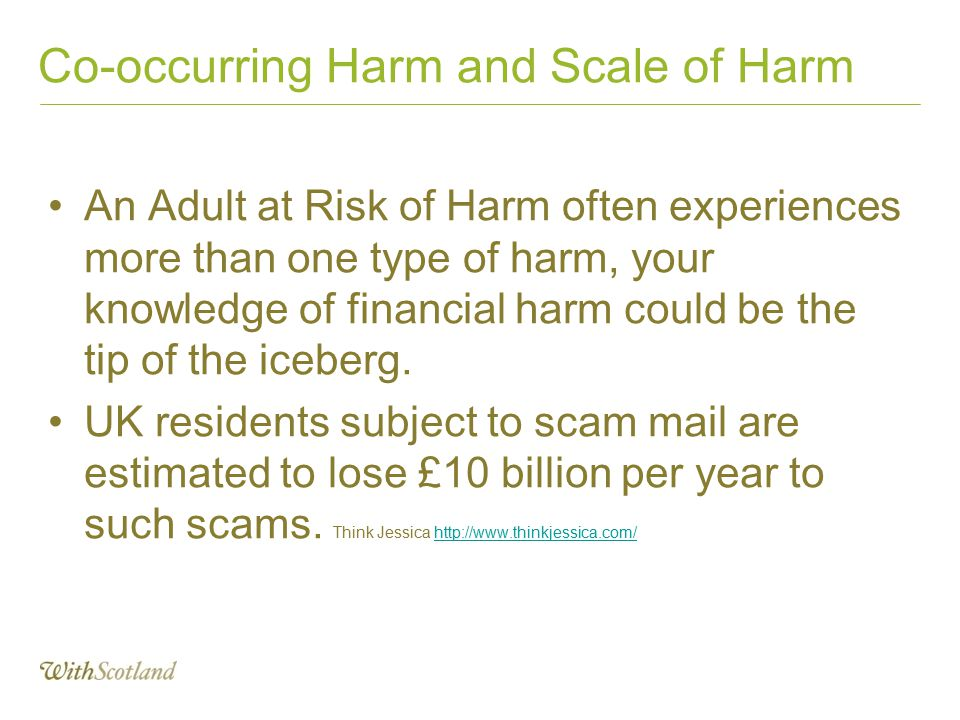 Co-occurring Harm and Scale of Harm