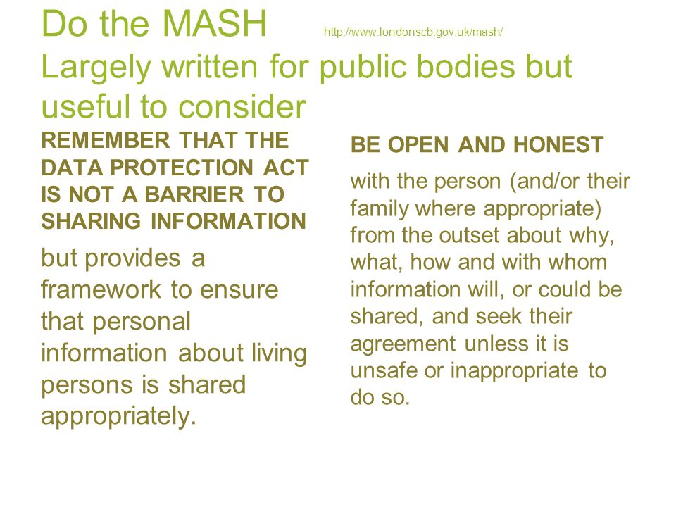 Do the MASH   londonscb. gov