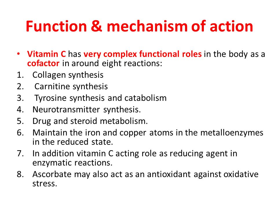 Function & mechanism of action