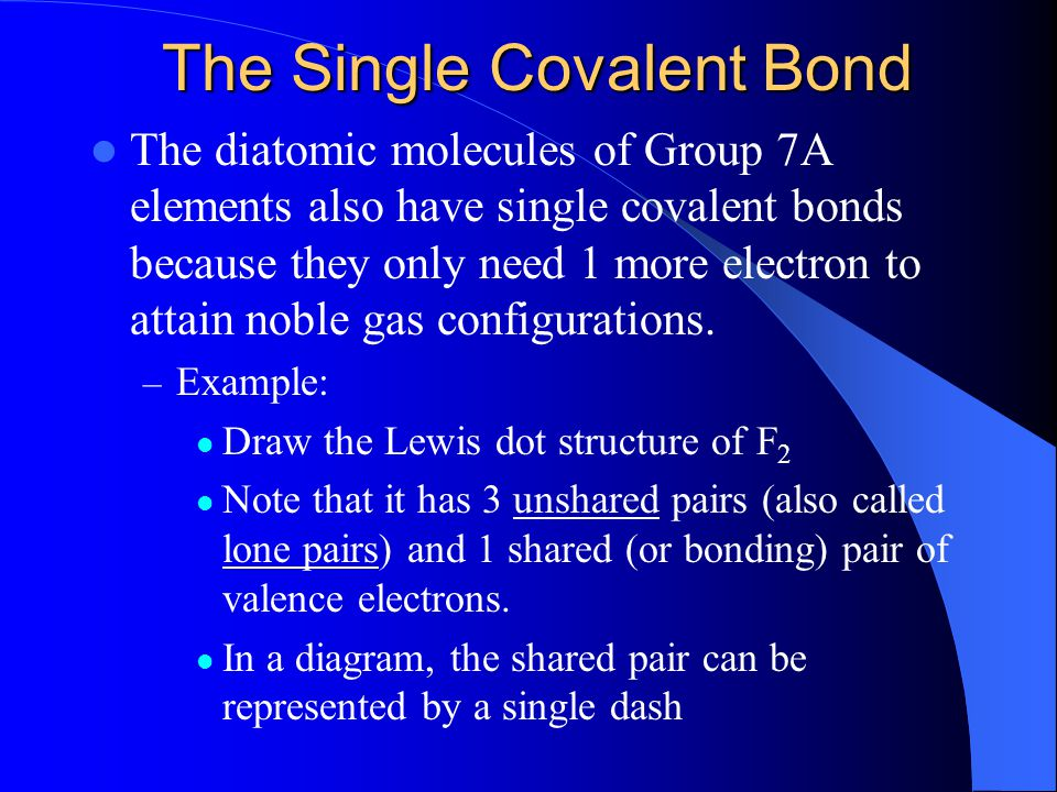 The Single Covalent Bond