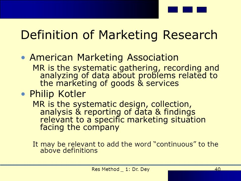 market researcher