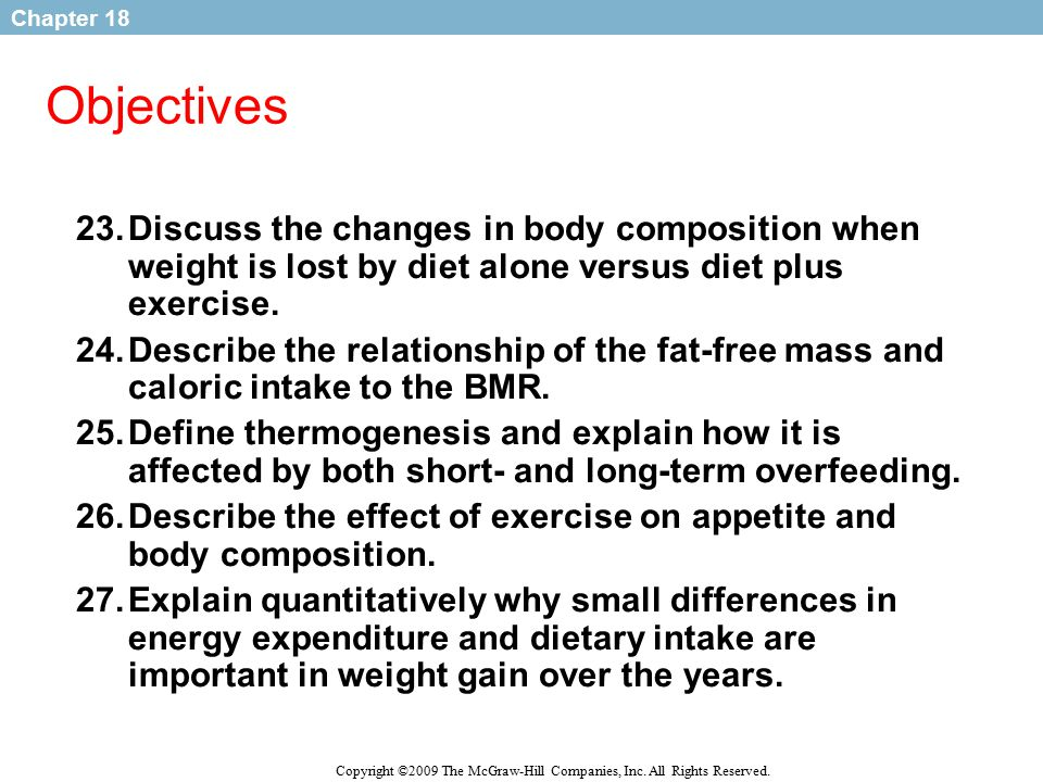 relationship of diet and body composition