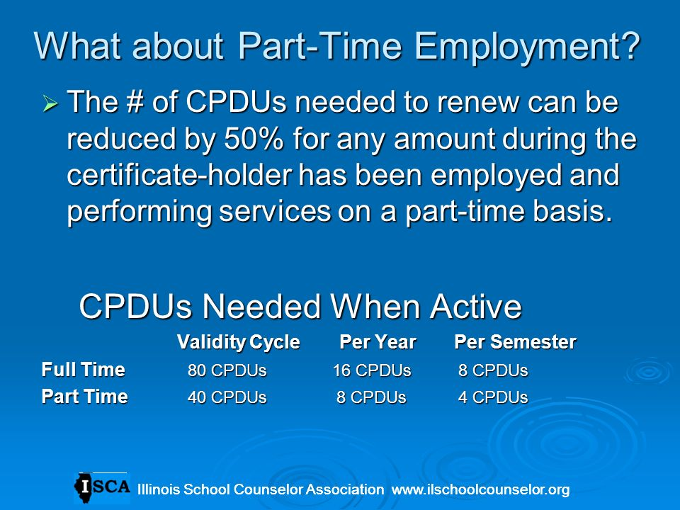What about Part-Time Employment