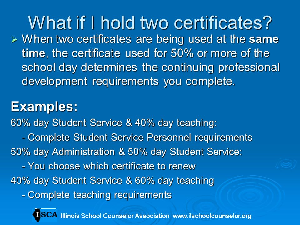 What if I hold two certificates