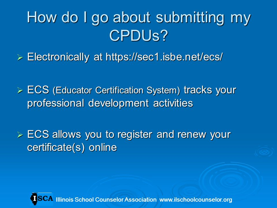 How do I go about submitting my CPDUs