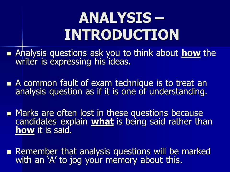an introduction to the analysis of ideas The most common serious errors in this type of text analysis are  including irrelevant ideas from the text,  inserting your own opinions, or  omitting.
