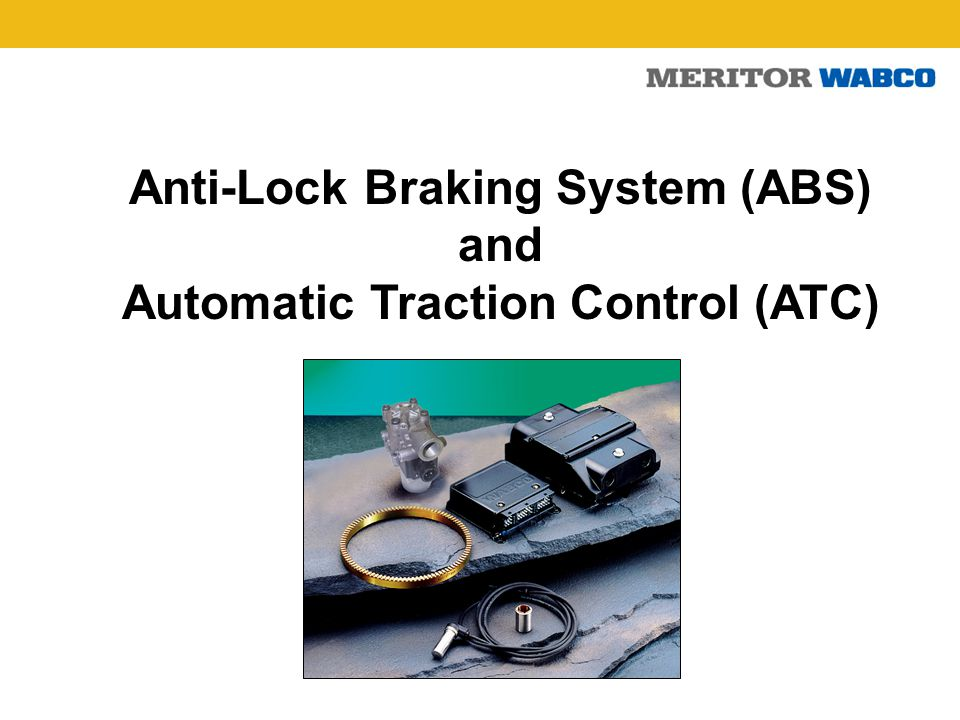 vehicle anti lock braking traction control Also known as abs (and some people say abs braking, which is as bad as saying atm machine), anti-lock braking systems allow a vehicle to reduce it's speed with far better control than with conventional brakes the theory is that, when rapidly braking, the more traction you have, the more control you.