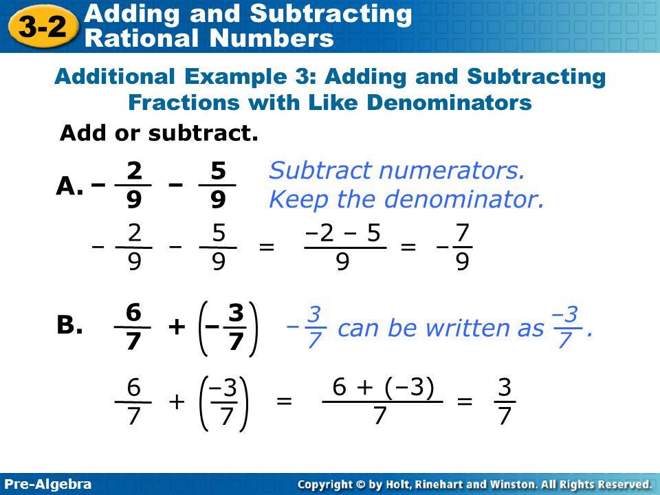 3 2 adding and subtracting rational numbers warm up problem of the 14 a b ccuart Images