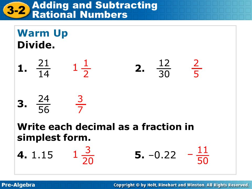 How do you write a fraction in simplest form